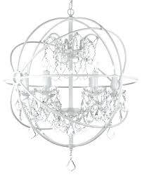 white orb chandelier white wrought iron orb crystal chandelier fixture pendant white washed orb chandelier white