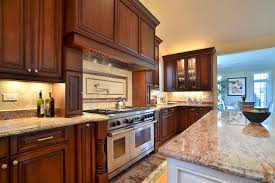 custom kitchen cabinets clear alder with hermosa finish latte island finish