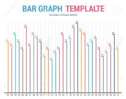 Bar Graph Template Business Infographics Royalty Free Cliparts