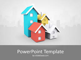 Powerpoint Real Estate Templates 3d House Real Estate Powerpoint Template