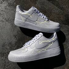 Nike Shoes Cool Designs 3m Lightning Air Force 1 Custom Aesthetic Shoes Sneakers