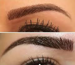 eyebrow microblading vs tattoo. feather stroke microblade tattoo - medicine of cosmetics eyebrow microblading vs