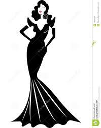 Design Diva Diva Hollywood Silhouette Beautiful Retro Fashion Woman In