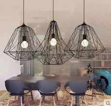loft industrial iron cage. Retro Industry Iron Loft Industrial Cage Pendant Lights Personality Cafe Bar Nordic Creative Diamond Lamp ZH-in From E
