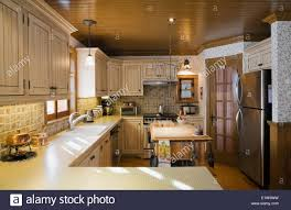 Cottage Style Kitchen Furniture Country Style Kitchen Inside A Canadiana Cottage Style Fieldstone