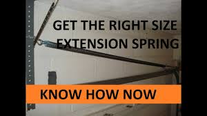 How to Get the Right Size Garage Door Spring - YouTube
