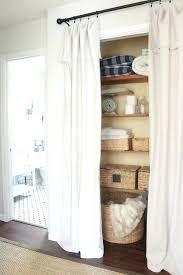 Closet Without Doors Ideas Curtain For Closet Door Curtains Closet