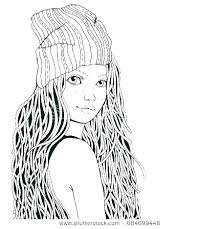 Coloring Page Of A Girl Coloring Page Cute Girl Coloring Pages Cute
