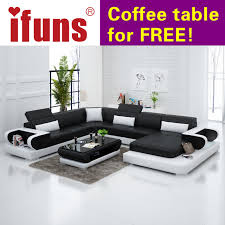 modern leather sectional sofas. IFUNS Couches For Living Room Modern Leather Sectional Sofa U Shaped New Design Genuine Sofas N