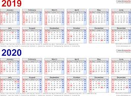 Microsoft Excel Calendar 2020 Excel Calendar 2019 20 Excel Calendar Template