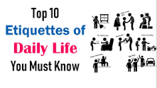 Image result for etiquette examples in daily life