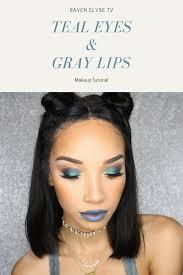 i m giving you 90 s e princess vibes with this teal eyeshadow and grey lipstick makeup tutorial ravenelysetv makeup tealeyeshadow