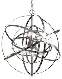 foucault s orb chandelier chrome
