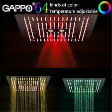 <b>GAPPO shower head</b> 400mm*400mm <b>Water</b> Powered Rain Led ...