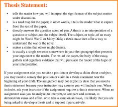 in essay thesis in essay