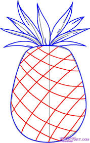 realistic pineapple drawing. how to draw a pineapple step 4 realistic drawing