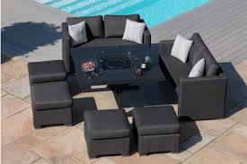 maze fusion sofa cube set with fire pit