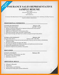 Insurance Sales Representative Sample Resume Custom Sample Resume Insurance Sales Representative Danayaus