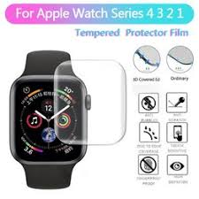 For Apple Watch Series 4 3 2 1 3D Full Cover Tempered ... - Vova