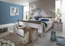 Landhaus Schlafzimmer Eva Massivholz Weiß Grau Von Jumek Günstig