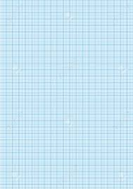 Graph Paper With Grid Cyan Color On A4 Sheet Size