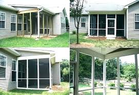 screened in patio cost. Screen Porch Cost Screened In Deck Charming Decoration . Patio