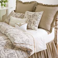 gallery of country french comforter sets toile authentic bedding simplistic 11