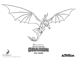 Hiccup And Night Fury How To Train Your Dragon Coloring Page