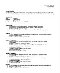 part time copywriter job description copywriter job description