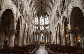 Paris - interior of Saint Severin gothic church | Stock Photo | Colourbox