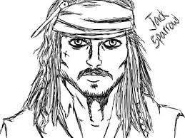 Afbeeldingsresultaat Voor Kleurplaten Jack Sparrow Piratenfeest