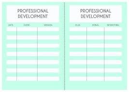 Log Chart Template Teacher Planner Template Professional Development Log Pmi Chart