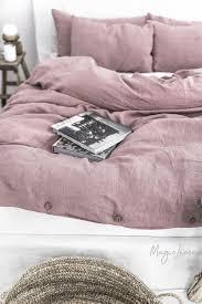 dusty pink linen duvet set magiclinen