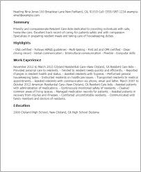 Resident Care Aide Sample Resume Resident Care Aide Sample Resume shalomhouseus 1