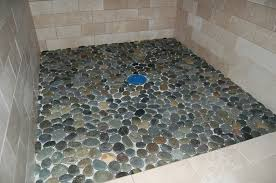 pebble stone flooring shower novalinea bagni interior fabulous in floor design 4