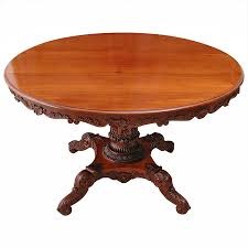 english regency round table with carved center pedestal circa 1825