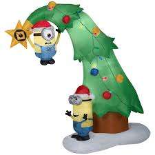 Airblown Inflatable Minions Christmas Tree