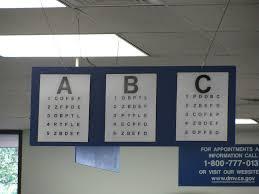 Dmv Eye Test Chart California Snellen Vision Charts Flow Charts
