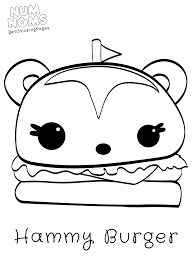 Num Noms Coloring Page Hammy Burger Get Coloring Pages