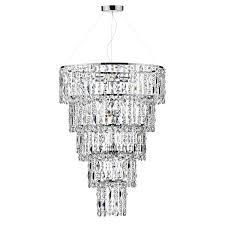 escala 6 light crystal chandelier