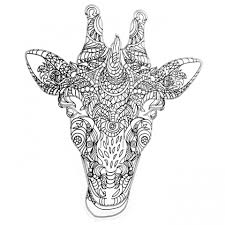 Printable Coloring Pages coloring page giraffe : Get This Giraffe Coloring Pages for Adults Zentangle Art 99371 !