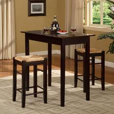three piece dining set:  russellpiececounterheightdiningset