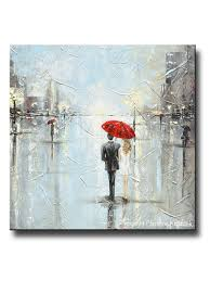 girl with umbrella wall art