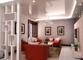 Living room interior design sofa partition 3D