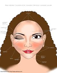 Makeup Application Chart Wikihow