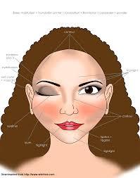 makeup application chart