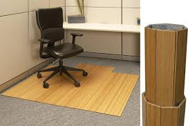 roll up bamboo chair mat 220 00 for office desk area by anji mountain bamboo rug co