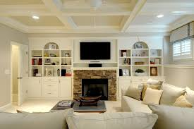 fireplace built ins designs family room traditional with stone mantel casual den coffee table