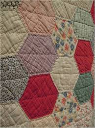 Quilt Inspiration: Vintage Hexagon Quilts & This fabric seems as if it might have been manufactured in the 1930's or  1940's, maybe even from cotton feed sacks, which comprised many quilts made  of ... Adamdwight.com
