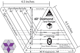 The 60-degree Family of Tools From Marti Michell & 60-degree Diamond for quiltmaking Adamdwight.com